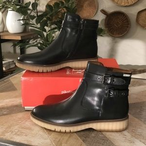 PIKOLINOS Buckle Leather Urban Boots